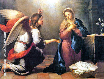 The Annunciation of the Lord By Bartolome Esteban Murillo Replica Paintings on Canvas - Reproduction Gallery