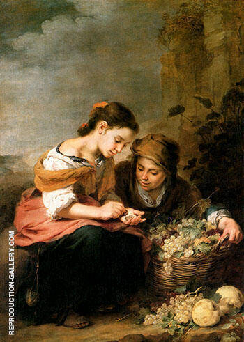 Reproduction of The Little Fruit Seller 1670 by Bartolome Esteban Murillo | Oil Painting Replica On CanvasReproduction Gallery