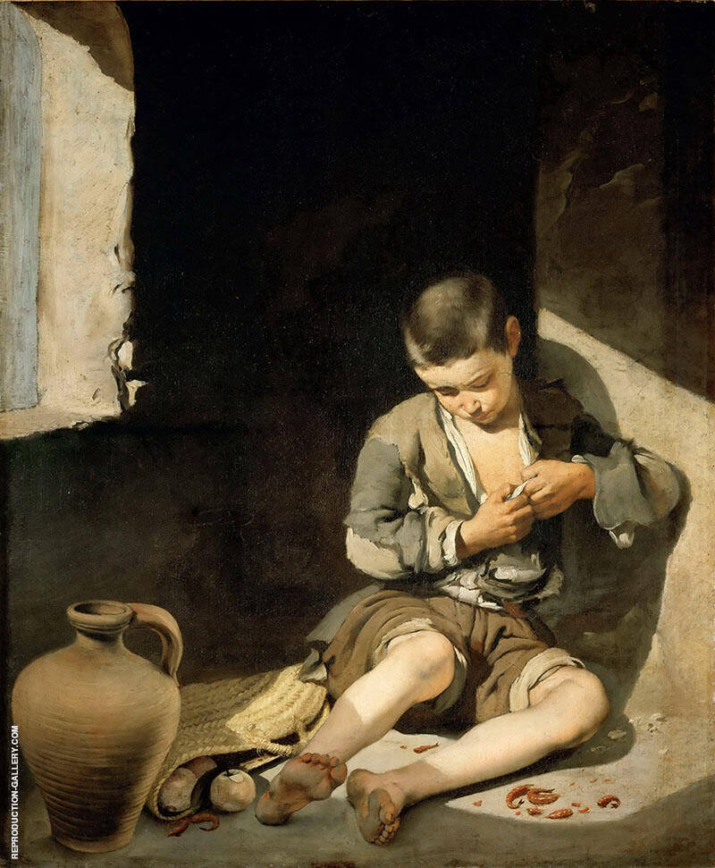 The Young Beggar c1650 By Bartolome Esteban Murillo