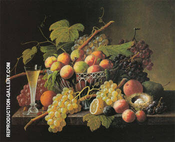 Still Life By Severin Roesen - Oil Paintings & Art Reproductions - Reproduction Gallery