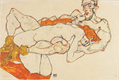 Lovers 1913 By Egon Schiele