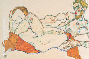 Lovers 1913 2 By Egon Schiele