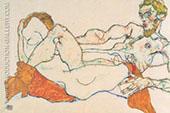 Lovers 1913 2 By Egon Schiele