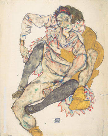 Sitzendes Paar 1915 By Egon Schiele - Oil Paintings & Art Reproductions - Reproduction Gallery