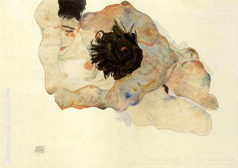 Umarmung 1912 By Egon Schiele