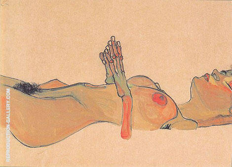 Totes Madchen 1910 By Egon Schiele - Oil Paintings & Art Reproductions - Reproduction Gallery