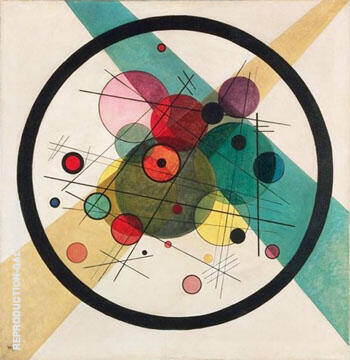 Circles in Circle Painting By Wassily Kandinsky - Reproduction Gallery