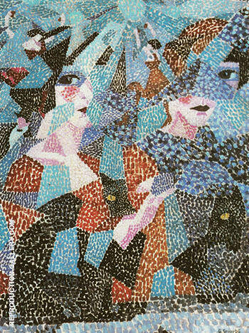 La Danseuse Obsedante The Haunting Dancer 1911 By Gino Severini