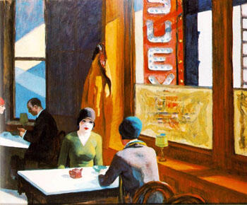 Chop Suey 1929 By Edward Hopper - Oil Paintings & Art Reproductions - Reproduction Gallery