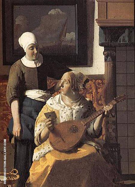 The Love Letter Detail c1669 By Johannes Vermeer