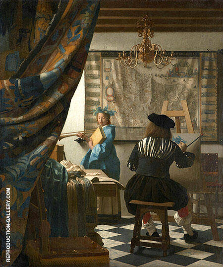 The Art of Painting c1666 By Johannes Vermeer