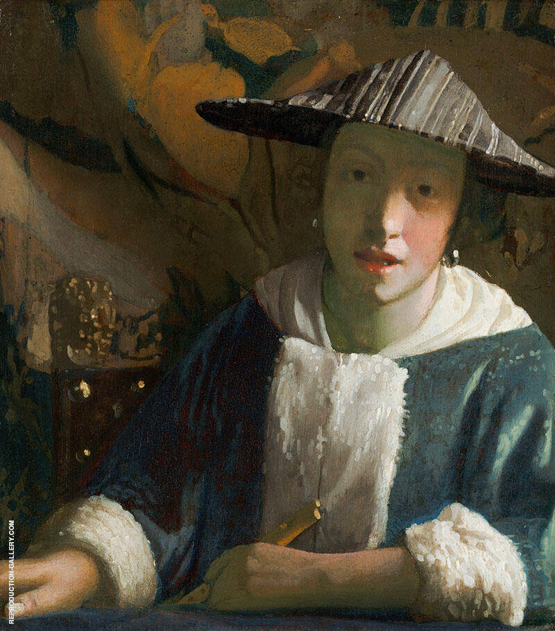 Girl with a Flute c1665 By Johannes Vermeer Replica Paintings on Canvas - Reproduction Gallery