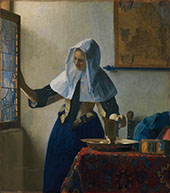 Young Woman with a Jug c1664 By Johannes Vermeer