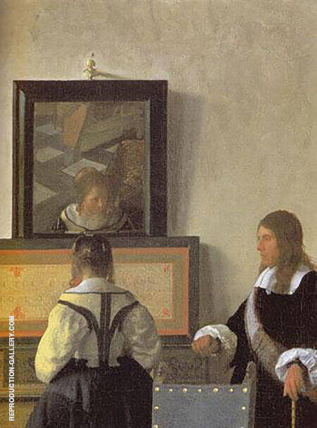 The Music Lesson Detail c1662 By Johannes Vermeer