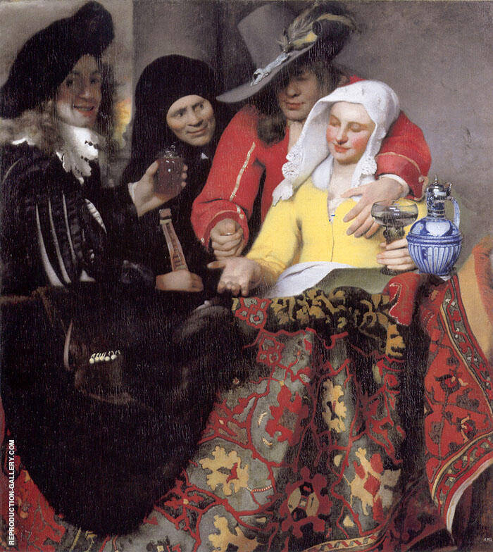 The Procuress 1656 Painting By Johannes Vermeer - Reproduction Gallery