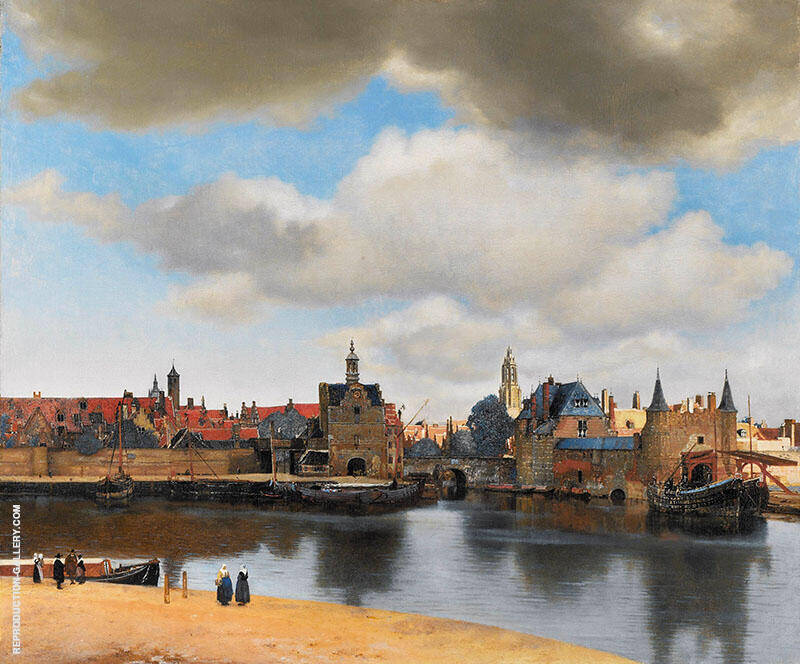 View of Delft c1660 By Johannes Vermeer