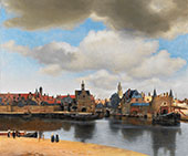View of Delft c1660 By Johannes Vermeer