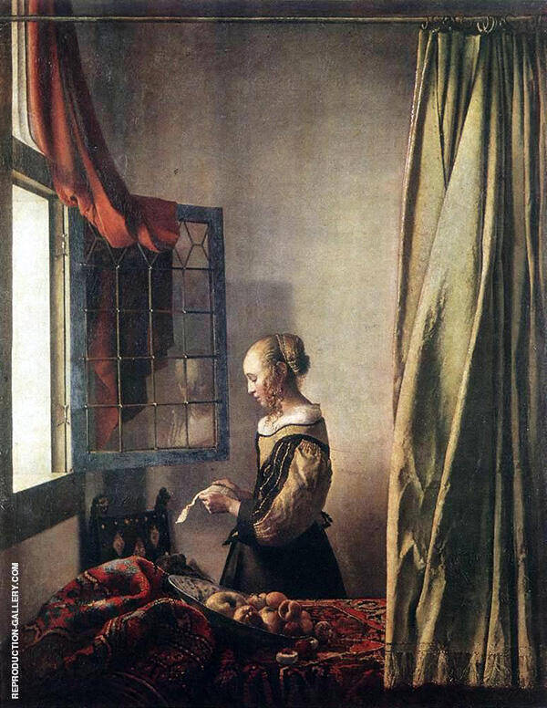 Girl Reading a Letter at an Open Window c1657 Painting By Johannes Vermeer