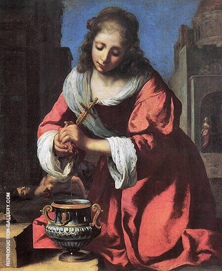 St Praxedis 1655 By Johannes Vermeer Replica Paintings on Canvas - Reproduction Gallery
