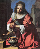 St Praxedis 1655 By Johannes Vermeer