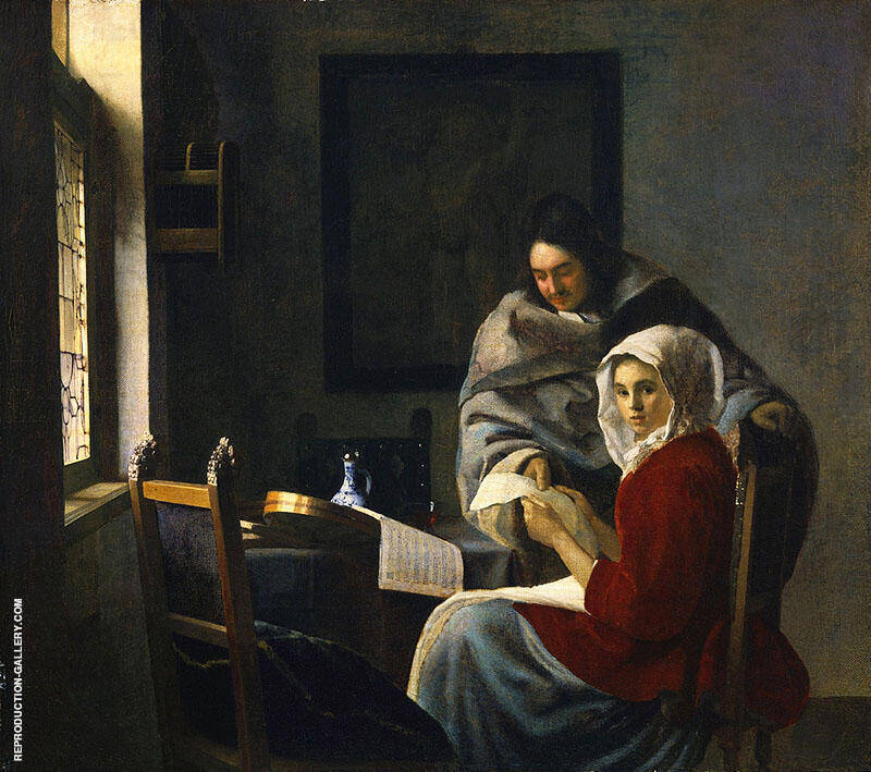 Girl Interrupted at Her Music c1660 By Johannes Vermeer