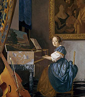 A Lady Seated at the Virginal c1673 By Johannes Vermeer