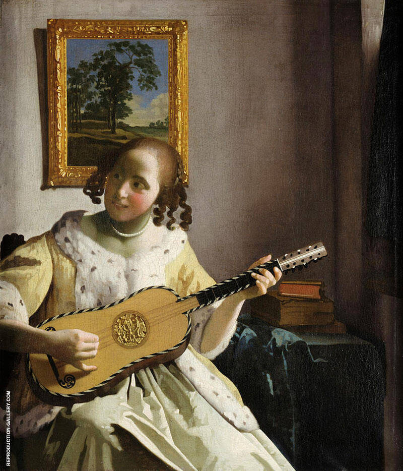 The Guitar Player c1672 By Johannes Vermeer