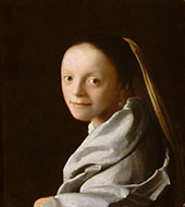 Head of a Girl c1666 By Johannes Vermeer
