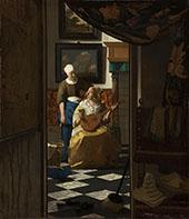 The Love Letter c1669 By Johannes Vermeer