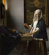 Woman Holding a Balance c1664 By Johannes Vermeer