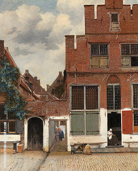 Reproduction of The Little Street c1657 by Johannes Vermeer | Oil Painting Replica On CanvasReproduction Gallery
