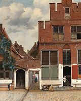 The Little Street c1657 By Johannes Vermeer