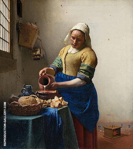The Milkmaid c1658 By Johannes Vermeer