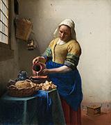 The Milkmaid c1658 By Johannes Vermeer