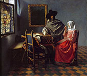 The Glass of Wine c1658 By Johannes Vermeer