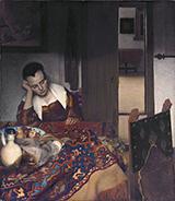Girl A sleep at a Table 1657 By Johannes Vermeer