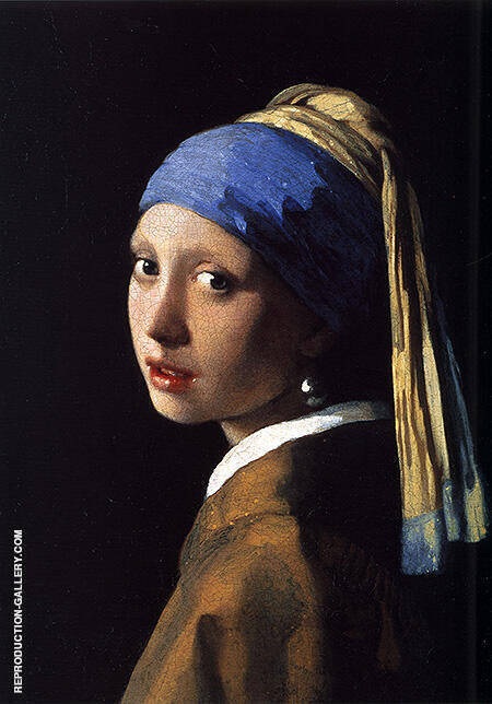 Vermeer Girl with Pearl Earring c1655 By Johannes Vermeer - Oil Paintings & Art Reproductions - Reproduction Gallery