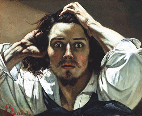 The Desperate Man Self-Portrait c1843 By Gustave Courbet