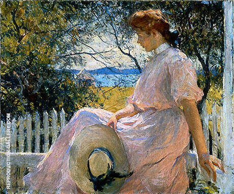Eleanor 1907 By Frank Weston Benson - Oil Paintings & Art Reproductions - Reproduction Gallery