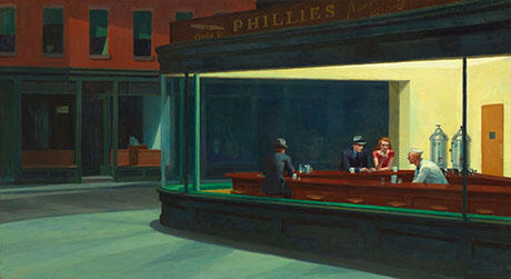 Nighthawks 1942 By Edward Hopper - Oil Paintings & Art Reproductions - Reproduction Gallery
