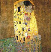 The Kiss 1907 square format By Gustav Klimt