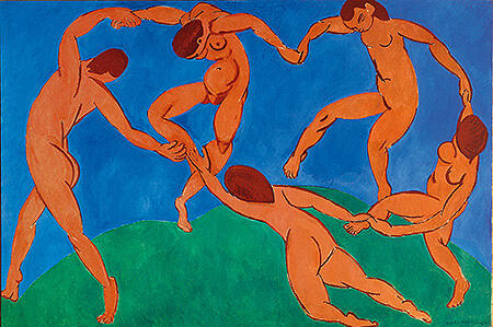 Dance II c1909 By Henri Matisse