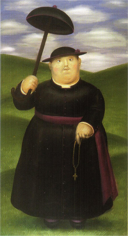 Walk in the Hills 1977 By Fernando Botero - Oil Paintings & Art Reproductions - Reproduction Gallery