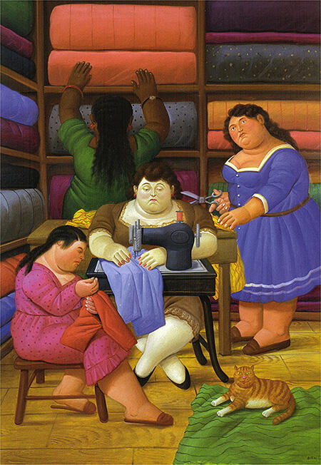 The Seamstresses 2000 By Fernando Botero - Oil Paintings & Art Reproductions - Reproduction Gallery