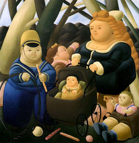 The Rich Children 1968 By Fernando Botero - Oil Paintings & Art Reproductions - Reproduction Gallery