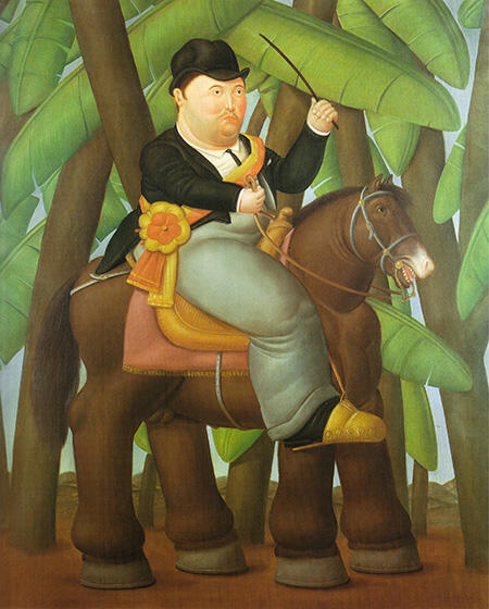 The President 1989 By Fernando Botero - Oil Paintings & Art Reproductions - Reproduction Gallery
