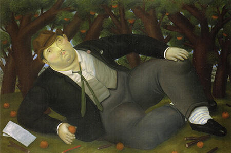 The Poet 1987 By Fernando Botero - Oil Paintings & Art Reproductions - Reproduction Gallery