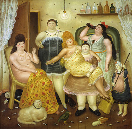 The House of Mariduque 1970 By Fernando Botero - Oil Paintings & Art Reproductions - Reproduction Gallery