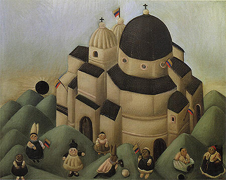 The Great Celebration 1966 By Fernando Botero - Oil Paintings & Art Reproductions - Reproduction Gallery