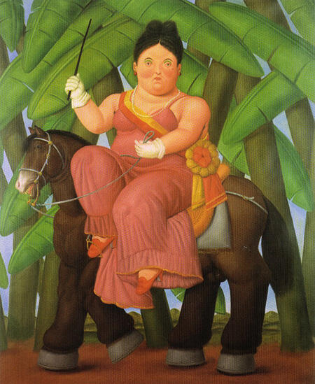 The First Lady 1989 By Fernando Botero - Oil Paintings & Art Reproductions - Reproduction Gallery
